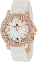 Swarovski Charles-Hubert, Paris Women's 6789-WRG Premium Collection Ceramic and Stainless Steel with Crystal Watch