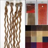 Hope 20'' Curly Loops Micro Ring Beads Tipped Human Hair Extenions 100S 27 Dark Blonde Women Beauty Hairsalon Style Design 0.5g/s