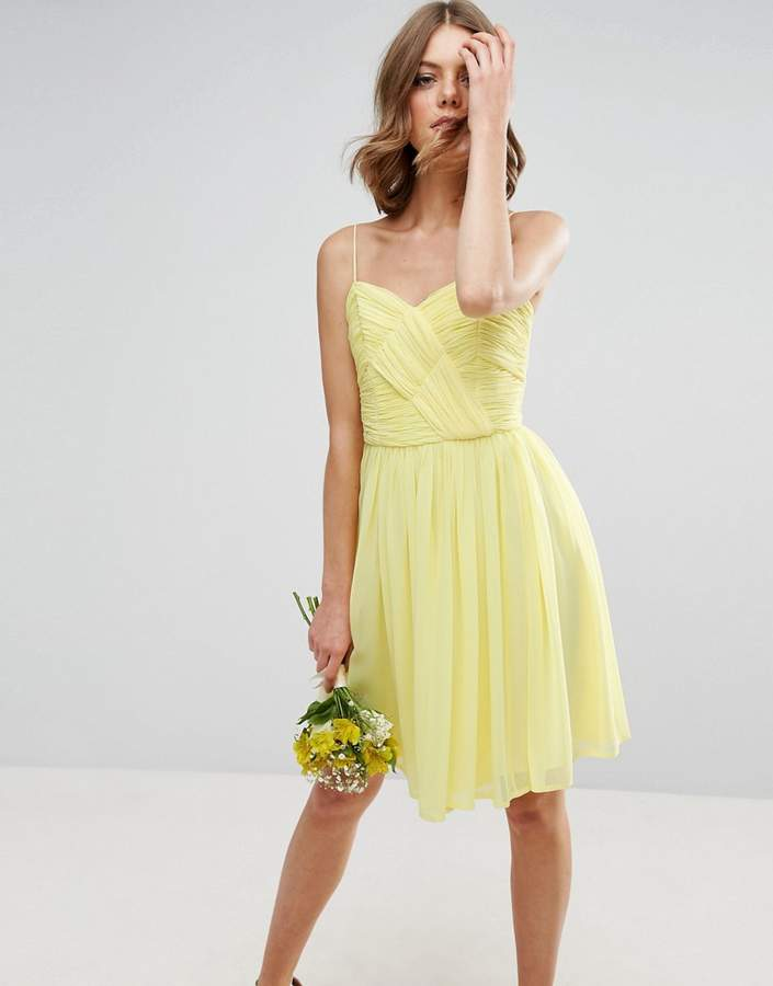 Asos Design Bridesmaid Ruched Mini Dress