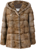 Yves Salomon fur fitted coat