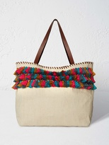 White Stuff Laurie tassel tote bag