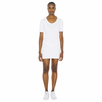 American Apparel Women's Fine Jersey Short Sleeve T-Shirt Dress