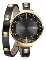 RumbaTime Orchard Double Wrap Lights Out Women's Watch Black