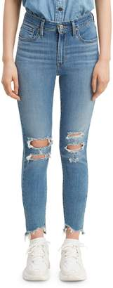 Levi's 721 High Rise Skinny Jeans Hawaii Lights