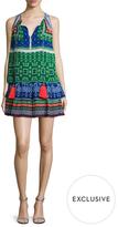 Silk Print Mini Dress