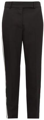 Haider Ackermann Miles Striped Wool Trousers - Womens - Black