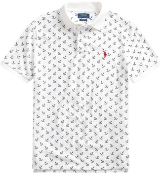 Polo Ralph Lauren Custom Slim-Fit Anchor Basic Mesh Polo