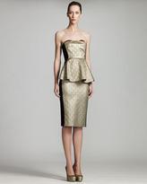 Stella McCartney Metallic Bustier Dress