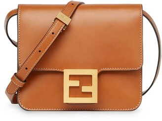 Fendi Fab logo shoulder bag