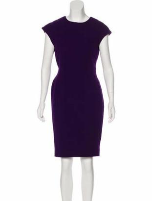Zac Posen Cap Sleeve Knee-Length Dress Purple