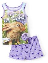 Komar Kids Blue 'Show Me The Bunny' 4-D Pajama Set - Girls