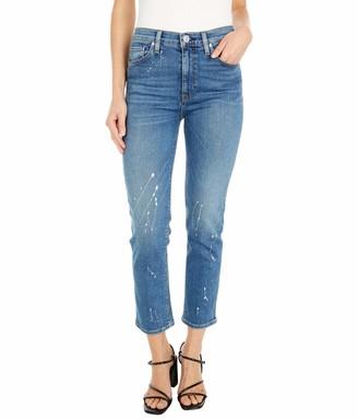 Hudson Women's Barbara High Rise Crop Straight Jean