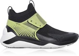 Mcq Alexander Mcqueen Hikaru Black Lime Calf Leather and Fabric Men's Sneakers