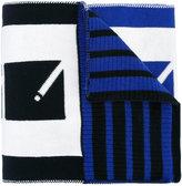 Kenzo logo print scarf - men - Cotton - One Size