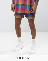 Reclaimed Vintage Inspired Shorts In Check