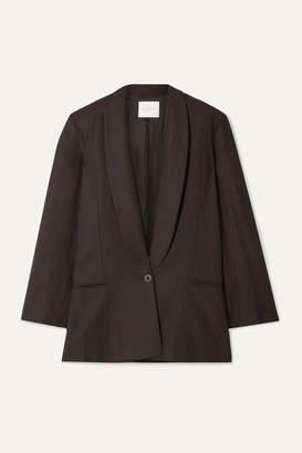 Envelope1976 - Bahamas Oversized Wool-crepe Blazer - Dark brown
