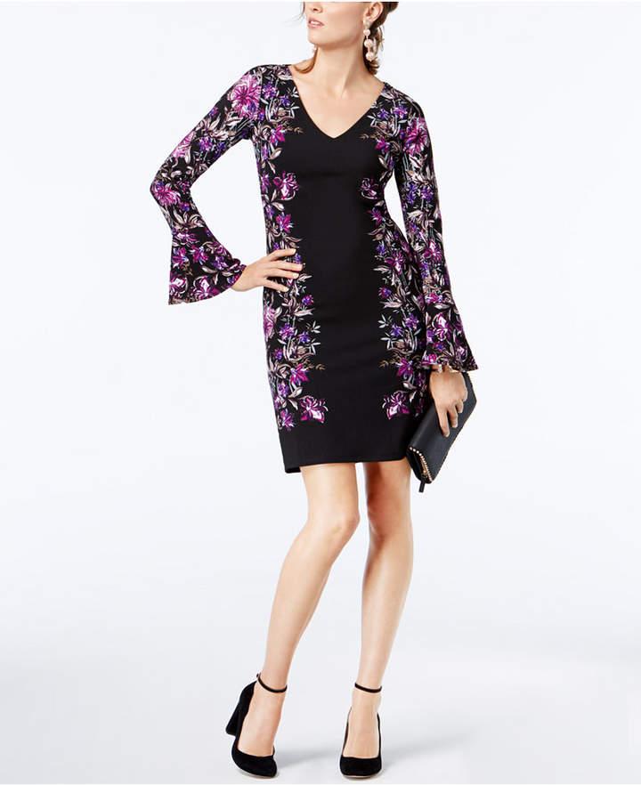 INC International Concepts Bell-Sleeve Ponté Shift Dress, Created for Macy's