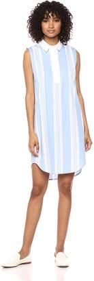 Equipment Women's Sideline Stripe Cotton Poplin Sleeveless Felix Dress