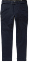 Officine Generale - Julian Belted Cotton-twill Chinos