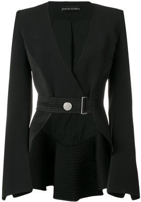 David Koma Belted Cropped Jacket