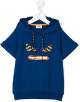Fendi shortsleeved drawstring hoodie