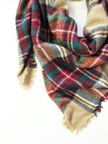 Blanket Scarf - Tan Plaid