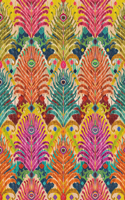 Les-Ottomans Peacock Feather Design Printed Tablecloth