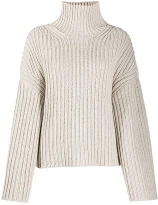 Nanushka Raw Turtle Neck chunky knit jumper