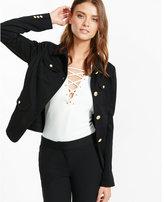 Express ponte multi flap pocket jacket