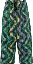 M Missoni Cropped printed cotton wide-leg pants