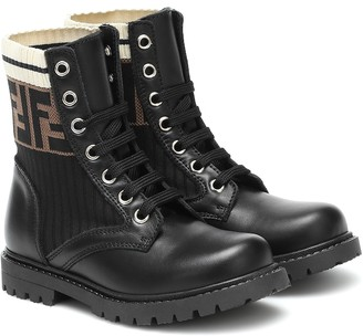 Fendi Kids Leather ankle boots