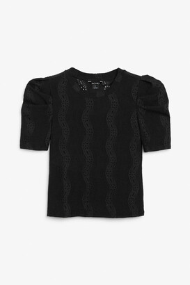 Monki Broderie anglaise top