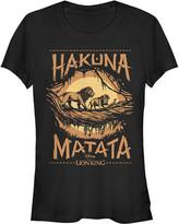 Fifth Sun Women's Tee Shirts BLACK - The Lion King Black Savanna Poster Crewneck Tee - Women & Juniors
