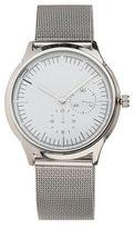 Burton Mens Silver Mesh Watch