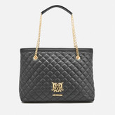 Love Moschino Women's Quilted Large Shopper Tote Bag - Black