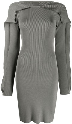 Koché Ribbed Cut-Out Mini Dress