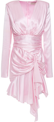 Alexandre Vauthier Draped Stretch-silk Satin Mini Dress