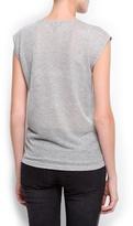 MANGO Embellished t-shirt