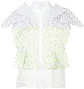 DELPOZO short sleeved textured blouse - women - Silk/Cotton/Polyamide/Polyester - 34