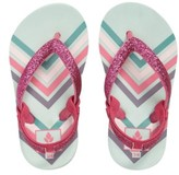 Reef Toddler Girl's Littler Stargazer Print Leather Flip Flop