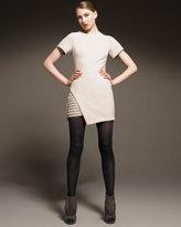 Short-Sleeve Grommet Dress