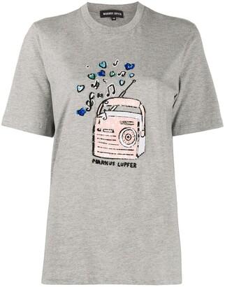 Markus Lupfer sequin-embellished print T-shirt