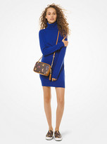 Michael Kors Merino Wool Blend Turtleneck Sweater Dress