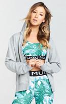 MUMU Abby Zip Up Hoodie ~ Grey