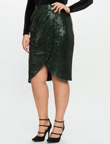 ELOQUII Plus Size Sequin Tulip Skirt