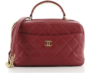 Chanel Carry Around Bowling Bag Quilted Caviar Small