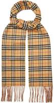 Burberry Classic Vintage-check reversible cashmere scarf
