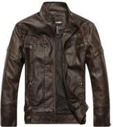 Summer6688 Fashion Motorcycle PU Leather Clothing Men's Leather Jacket