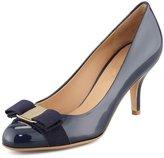 Arc-en-Ciel women's shoes low heel patent leather round toe pumps-us