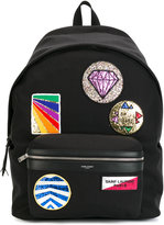 Saint Laurent multi-patch City backpack - men - Cotton - One Size